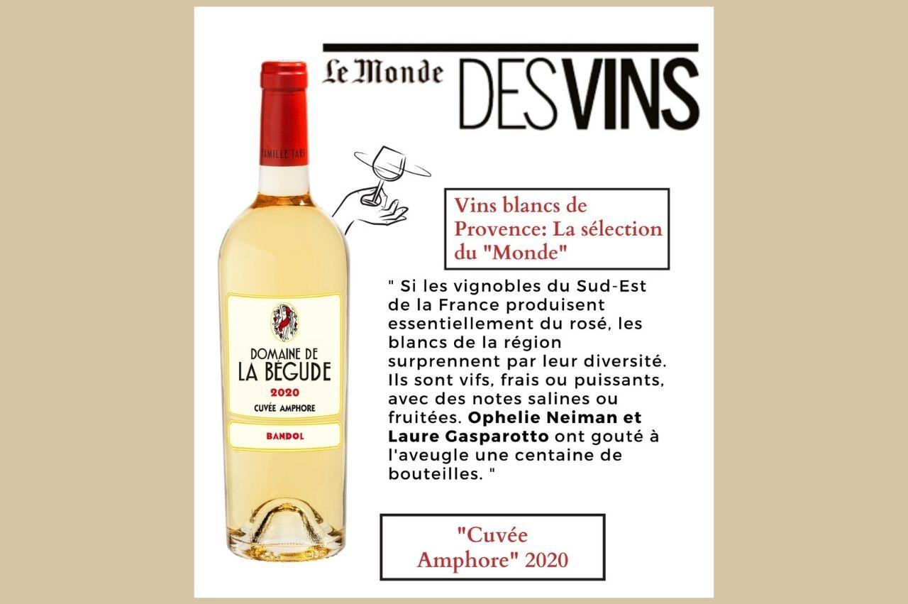 """Vins blancs de Provence : La sélection du """"Monde"""""""