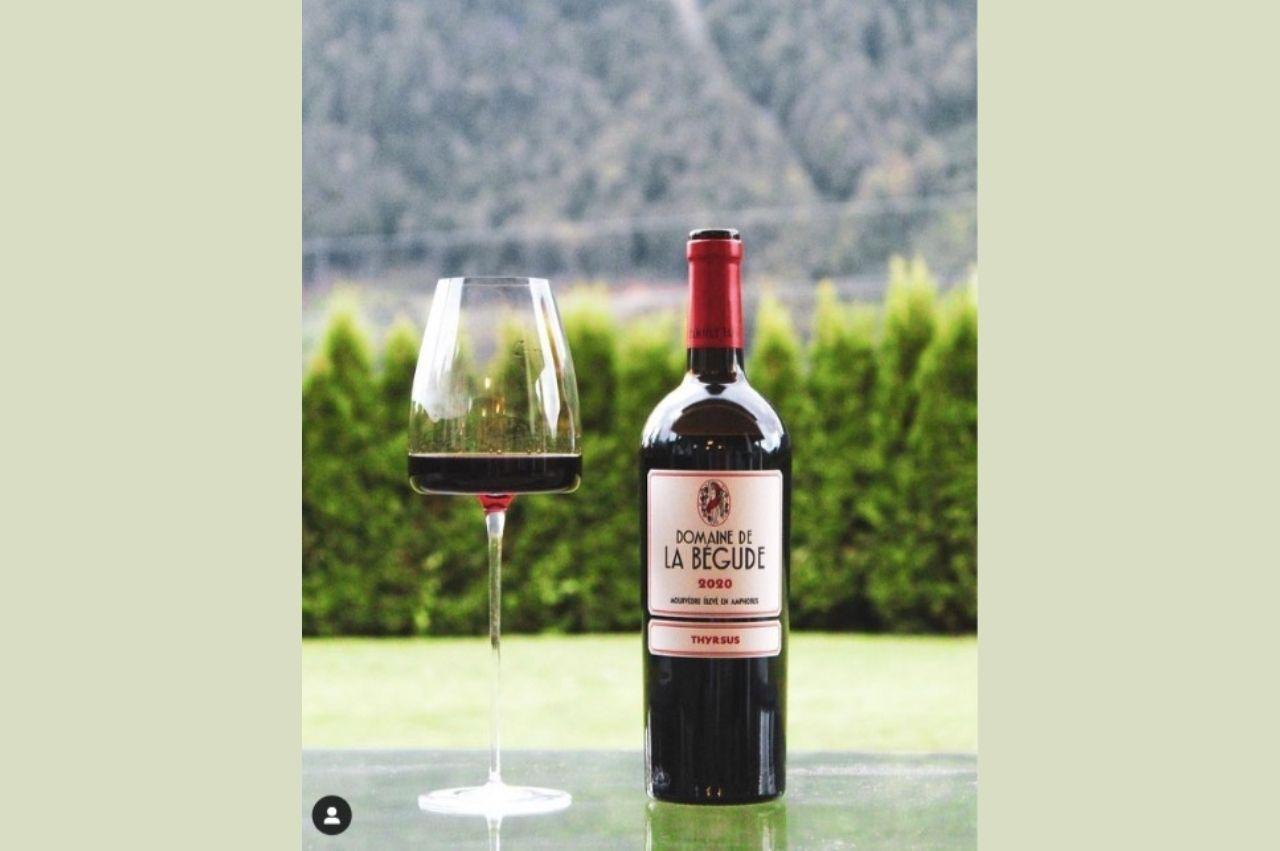 Belle dégustation  par Wine with Chris de notre nouvelle cuvée Thyrsus, pur Mourvèdre, élevée 6 mois en amphores
